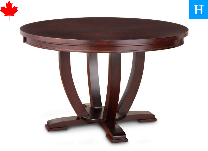 Solid wood pedestal round tables paris toronto for Solid wood round dining room table